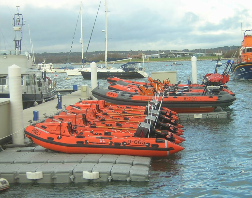 RNLI lined up