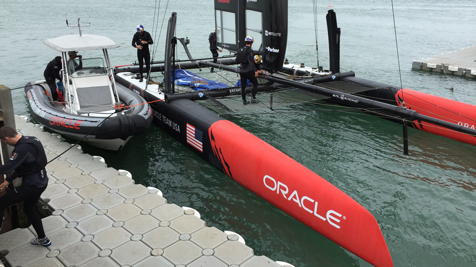 Ultimate dock for the ultimate America's Cup sailors