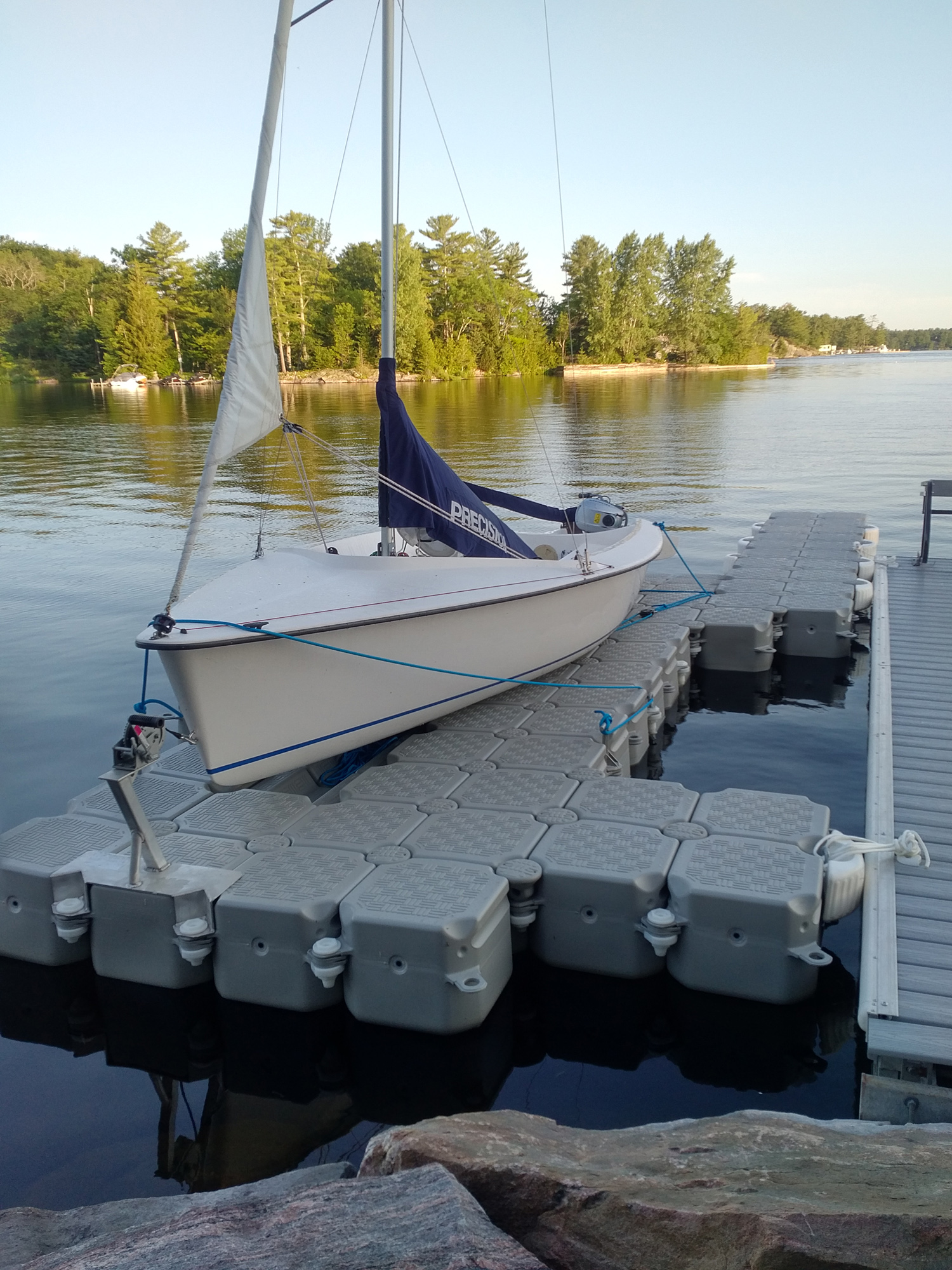 Precision on Drysail Ontario dock 1500x2000